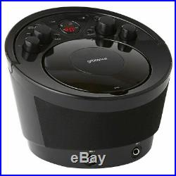 Groov-e GVPS923BK Portable Karaoke Boombox CD Player & Bluetooth Playback Black