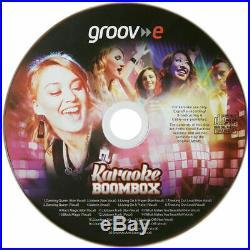 Groov-e GVPS923BK Portable Karaoké Boombox Lecteur CD & Bluetooth Playback Noir