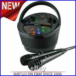 Groov-e GVPS923BK Portatile Karaoke Boombox Lettore CD & Bluetooth Playback Nero
