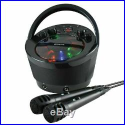 Groov-e GVPS923BK Tragbar Karaoke Boombox CD Player & Bluetooth Playback Schwarz