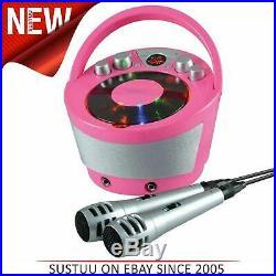 Groov-e GVPS923PK Portátil Karaoke Boombox CD Jugador & Bluetooth Playback Rosa