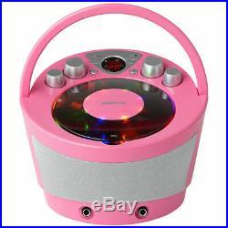 Groov-e GVPS923PK Portatile Karaoke Boombox Lettore CD & Bluetooth Riproduzione