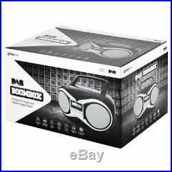 Groov-e Portable BoomboxPortable CD PlayerDAB/FM RadioGVPS753LCD DisplayBlk