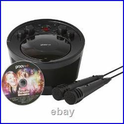 Groov-e Portable Karaoke Boombox CD Player Bluetooth Wireless Playback Black