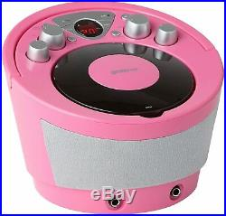 Groov-e Portable Karaoke Boombox with CD Player Bluetooth Playback GVPS923PK New
