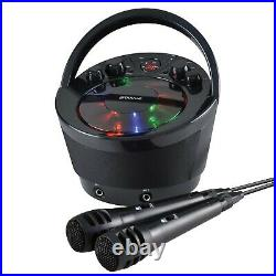 Groov-e Portable Party Karaoke Boombox Machine with CD Player, Bluetooth Wire