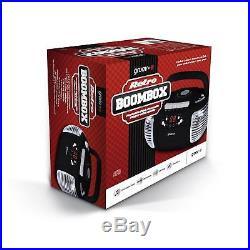 Groov-e Retro Boombox Portable CD Player with Cassette & Radio Black