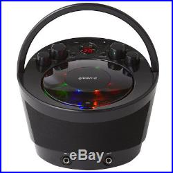 Groov-e Tragbar Karaoke Boombox CD Player & Bluetooth Playback Schwarz GVPS923BK