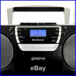 Groov-e Ultimate Bluetooth Boombox Portable CD/Cassette Player DAB/FM Radio Blak
