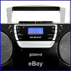 Groov-e Ultimate Bluetooth Wireless Portable Boombox with CD Player, Cassette