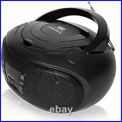 Grouptronics GTCD-501 Black Portable Stereo CD Player BoomBox And Portable Radio
