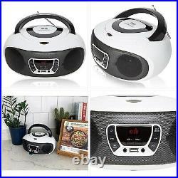 Grouptronics GTCD-501 Stereo BoomBox Portable CD Player Radio With USB, MP3 Play