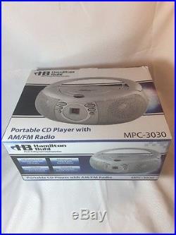 Hamilton Buhl Top-Loading CD Boombox with AM/FM Analog Radio Tuner #MPC-3030