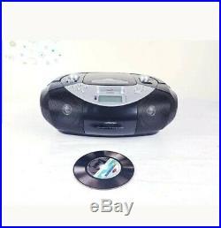Hitachi Portable Stereo Radio/Ipod Dock/CD/MP3 Player Silver&Black