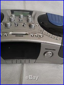 HomeMix CDJ-1 Portable DJ Mixing Console Dual CD-Player and Cassette Tape Player