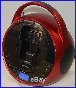 Insignia NS-BIPCD01 Portable Stereo CD Player iPhone 4s 3gs iPod Touch FM Radio