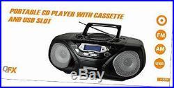 J-33u am/fm portable radio cassette player cd and usb