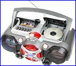 J-50U Portable Jumbo Bluetooth Boombox Radio with MP3/CD Player and Cassette