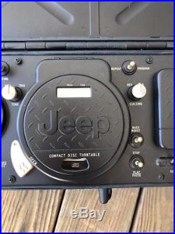 JEEP Portable Stereo Boombox CD 3 Band Radio Cassette Player TESTED Perfectly