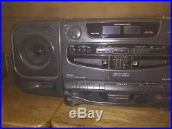 JVC BOOMBOX PCXT5 Twin CD Stereo Portable Cassette AM/FM Tape Player Radio