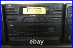 JVC PC-105X Boombox Portable System CD Player AM/FM Cassette Player Works Great