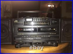 JVC PC-X100 AM FM CD Portable System Player Boombox Hyper-Bass