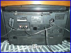 JVC PC-X110 AM/FM Radio CD / Cassette Tape Player Portable Boombox System