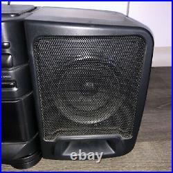 JVC PC-X110 CD Portable System Player FM AM Dual Cassette Boombox Remote Nice