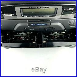 JVC PC-X110 CD Portable System Player FM AM Dual Cassette Tested & Working