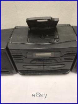 JVC PC-X110 CD Portable System Player FM AM Radio Dual Cassette Ghetto Blaster