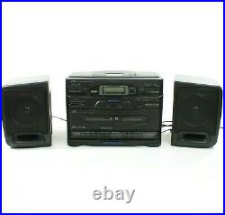 JVC PC-X110 Portable System CD Player FM AM Dual Cassette Cleaned Serviced