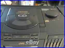 JVC PC-X200 Stereo Portable Boombox CD player Radio Cassette Player