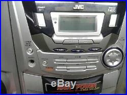 JVC PC-X250 Portable Boombox Single-Disc CD Dual-Cassette Player for parts ONLY