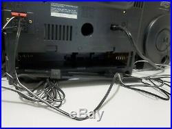 JVC PC-XC50 Boombox Portable 6-CD Radio Stereo AM/FM + Dual Tape Player READ