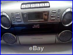JVC RC-BM5 Boombox Portable Stereo CD & MP3 Cassette Tape Player AM/FM Radio