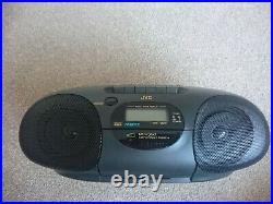 JVC RC-Q50 Portable CD Cassette Recorder AMFM Player 1994 Retro Boombox Pristine