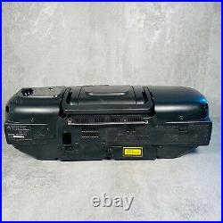 JVC RC-X320 Portable Super Bass AM/FM Boombox with CD Cassette Player Black