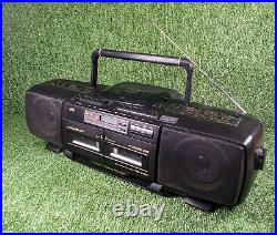 JVC RC-X510 Portable Stereo Boom Box CD Tape Player with Hyper Bass Function