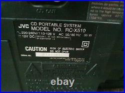 JVC RC-X510 Portable System CD-Radio-Cassette Player/Recorder Ghettoblaster
