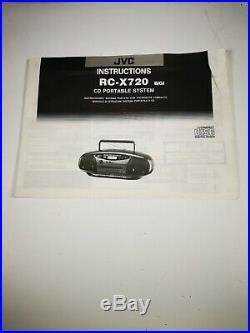 JVC RC-X720 Stereo Portable System CD Cassette Radio Player Beatbox Boombox