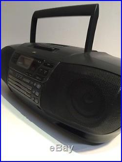 JVC RC-XC1 AM/FM 3 Disc CD Changer Cassette Player Boombox Portable Stereo