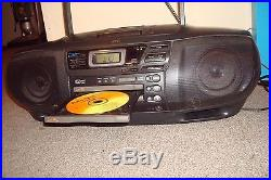 JVC RC-XC1 AM/FM 3 Disc CD Changer Cassette Player Boombox Portable Stereo NICE