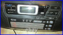 JVC RC-XC1 Portable AM/FM Radio /3 Disc CD /Cassette Player Boombox