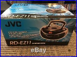 JVC RD-EZ11 Am/Fm CD Portable Audio input for mp3 player System Brand new