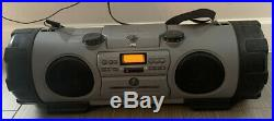 JVC RV-B90GY Kaboom Portable Stereo CD Cassette Digital Tuner Boombox Used
