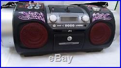 JVC RV-DP200 Portable Boombox Ghetoblaster Woofer CD Player Mixer Drum Bluetooth