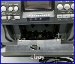 JVC RV-NB1 Kaboom Boombox Portable CD Cassette AM/FM Player Guitar Jack Remote