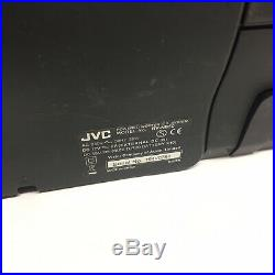 JVC RV-NB50 Boombox With Adjustable Strap CD Player FM Radio iPod Dock Portable