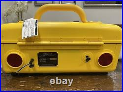 Jeep Boombox Portable CD Radio AM/FM Cassette Player Yellow WPSS-1A (New in Box)
