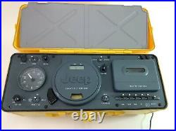 Jeep Boombox Portable CD Radio Am/fm Cassette Player Yellow Wpss-1a